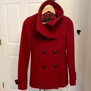 Aritzia Babaton wool cashmere Howell red coat